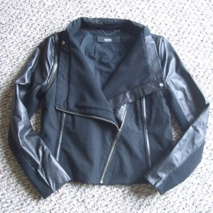 Cut25 by Yigal Azrouel leather canvas jacket 2 XS
